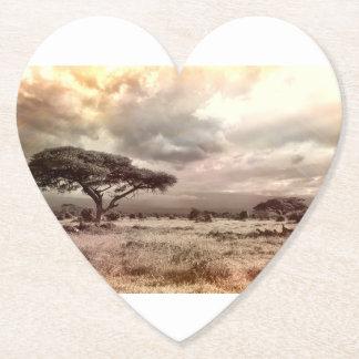 Porta-copo De Papel A natureza da queda da árvore ajardina destinos do