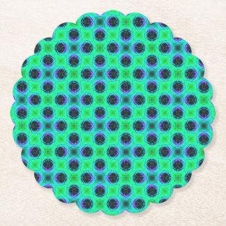 Porta-copo De Papel Abstrato geométrico azul roxo verde