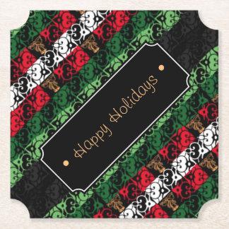 Porta-copo De Papel Alegria e elogio personalizados Costers do feriado