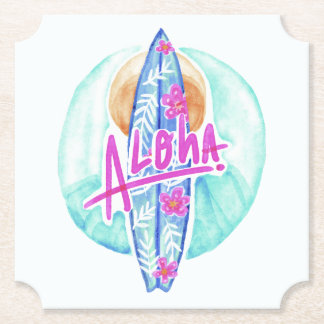 Porta-copo De Papel Aloha portas copos havaianas do papel do surfista