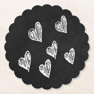 Porta-copo De Papel Amor preto & branco do quadro dos corações