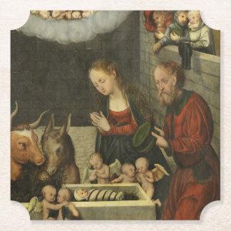 Porta-copo De Papel Bebê adorador Jesus dos pastores por Cranach