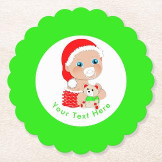 Porta-copo De Papel Bebê bonito do papai noel do Natal personalizado