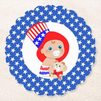Porta-copo De Papel Bebê patriótico do americano do tio Sam
