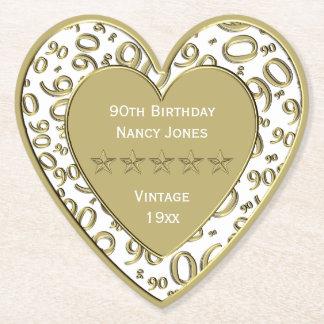 Porta-copo De Papel branco da festa de aniversário do 90 e tema do