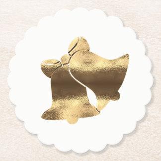 Porta-copo De Papel Branco de Bels de Natal e elegante festivo do ouro