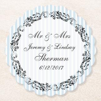 Porta-copo De Papel Casamento azul porta copos de papel feita sob