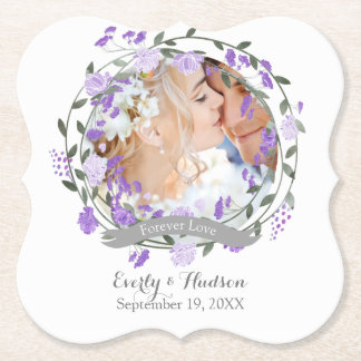 Porta-copo De Papel Casamento floral da grinalda da peônia roxa