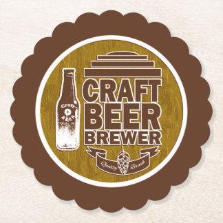Porta-copo De Papel Cervejeiro da cerveja do artesanato - grão da