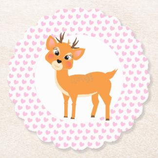 Porta-copo De Papel Cervos irrisórios bonitos em corações do amor do