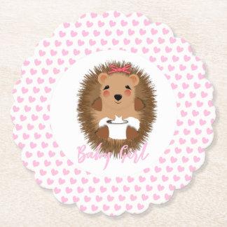 Porta-copo De Papel Chá irrisório bonito do bebé do ouriço da floresta