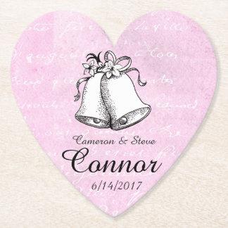 Porta-copo De Papel Coração cor-de-rosa portas copos personalizadas de
