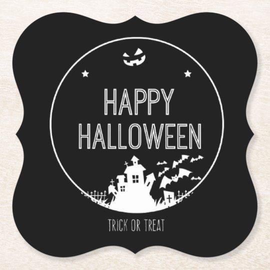 Porta-copo De Papel Doçura ou travessura feliz do Dia das Bruxas