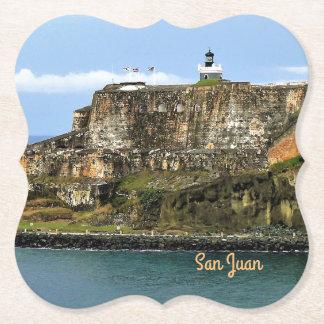 Porta-copo De Papel EL Morro que guarda a entrada da baía de San Juan