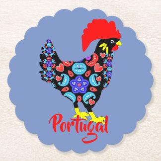 Porta-copo De Papel Emblema nacional português do galo de Barcelos
