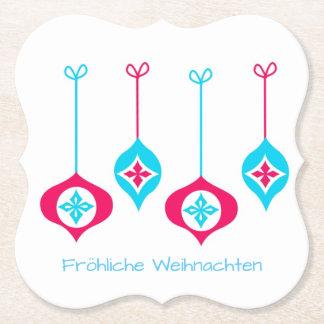 Porta-copo De Papel Enfeites de natal Fröhliche Weihnachten