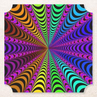 Porta-copo De Papel Espiral do ESPECTRO, ilusão visual, arco-íris/rosa