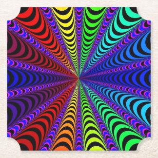 Porta-copo De Papel Espiral do ESPECTRO, ilusão visual, arco-íris/roxo