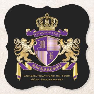 Porta-copo De Papel Faça seu próprio emblema da coroa do monograma da