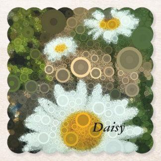 Porta-copo De Papel Favores da margarida dos círculos concêntricos do