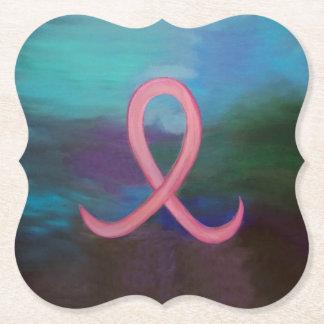 Porta-copo De Papel Fita de câncer de mama cor-de-rosa corajosa de