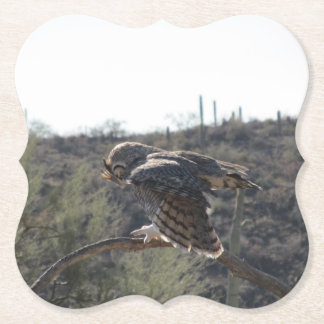 Porta-copo De Papel Grande coruja Horned