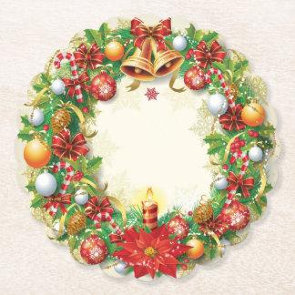 Porta-copo De Papel Grinalda do Natal Scalloped em volta da porta