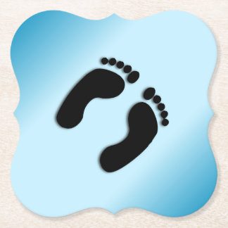 Porta-copo De Papel Impressões azuis do pé