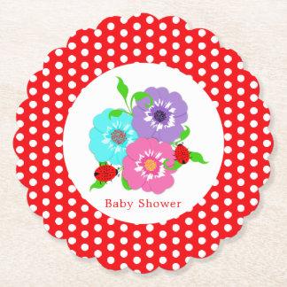Porta-copo De Papel Irrisório bonito dos joaninhas bonito das flores