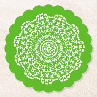 Porta-copo De Papel Laçado elegante elegante branco verde modelado
