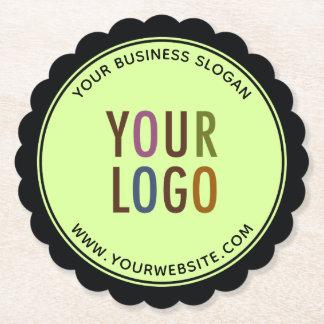 Porta-copo De Papel Logotipo de Borda Papel Portas copos Empresa de