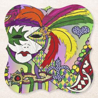 Porta-copo De Papel Máscara psicadélico da pena do carnaval
