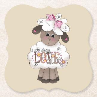 Porta-copo De Papel Mim de lãs portas copos da ovelha do amor sempre