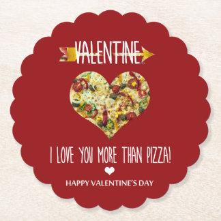 Porta-copo De Papel Namorados, eu te amo mais do que a pizza
