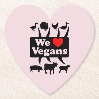 Porta-copo De Papel Nós amamos Vegans II (o preto)