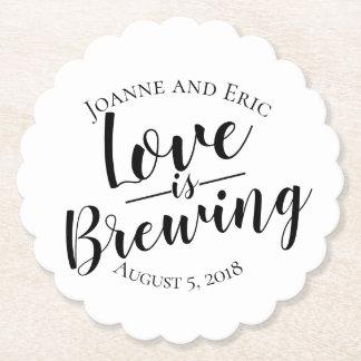 Porta-copo De Papel o amor está fabricando cerveja a porta copos do
