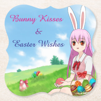 Porta-copo De Papel Os beijos & a páscoa do coelho desejam