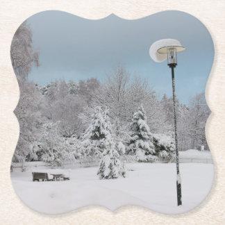 Porta-copo De Papel País das maravilhas do inverno