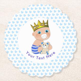 Porta-copo De Papel Partido de chá bonito do príncipe bebé dos