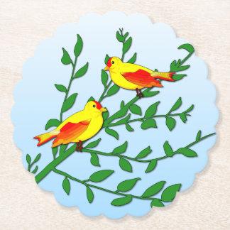 Porta-copo De Papel Pássaros da paz