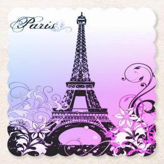 Porta-copo De Papel Porta copos de papel Scalloped Paris da torre