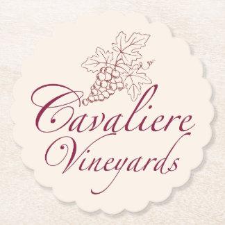 Porta-copo De Papel Porta copos dos vinhedos de Cavaliere (vermelha)