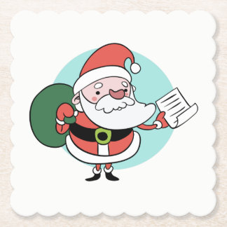 Porta-copo De Papel Portas copos de papel de Papai Noel