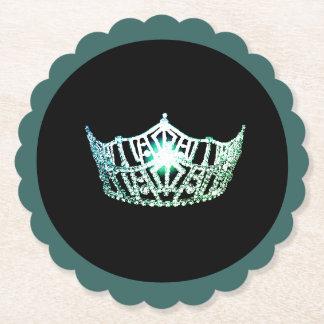 Porta-copo De Papel Portas copos de papel de Sclpd da coroa do Aqua da