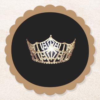 Porta-copo De Papel Portas copos de papel de Sclpd da coroa do ouro do