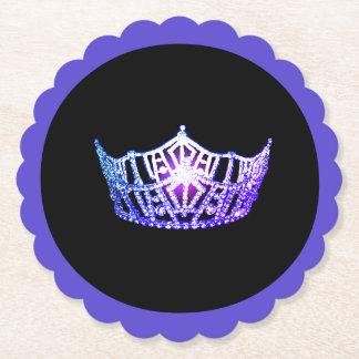 Porta-copo De Papel Portas copos de papel de Sclpd da coroa roxa da