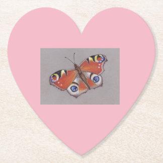 Porta-copo De Papel Portas copos do cartão do coração com design da