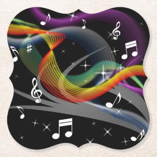 Porta-copo De Papel Portas copos do papel da ilustração da música