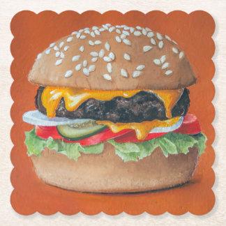 Porta-copo De Papel Portas copos do papel da ilustração do Hamburger