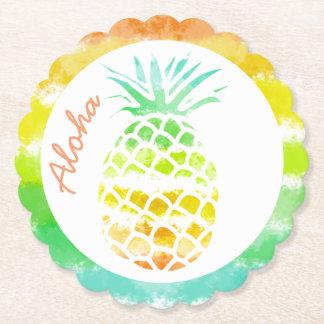 Porta-copo De Papel Portas copos tropicais do papel do abacaxi